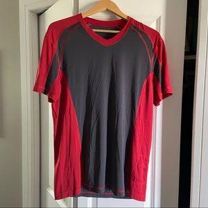 Lululemon Red Black Shirt